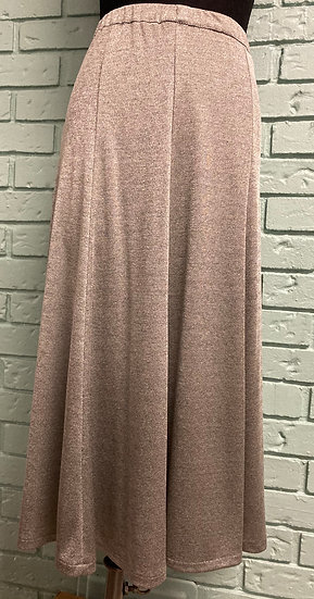 Warm Gray 8-Gore Knit Skirt  (Large)