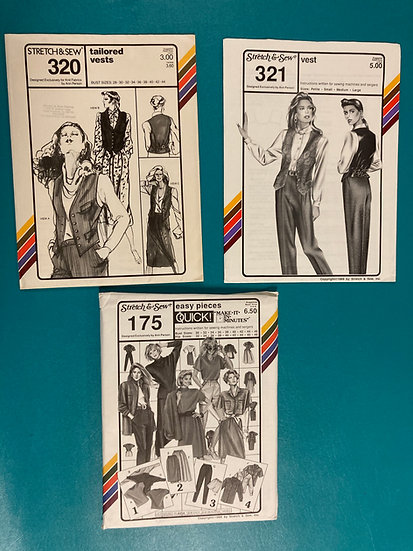 Stretch & Sew Patterns - Group 4:  320, 321, 175 from 70's and 80's