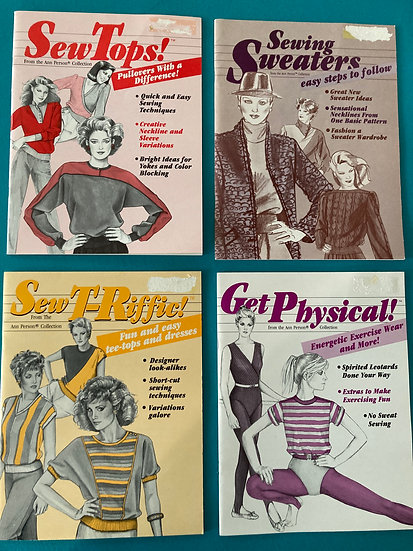 Stretch & Sew Booklets:  Sew Tops, Sewing Sweaters, Sew T-Riffic, Get Physical!