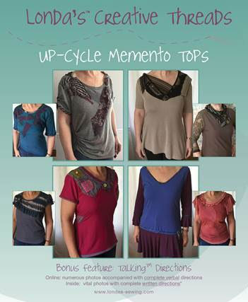 Up-Cycle Memento Tops Sewing Pattern™ Booklet - PDF delivery