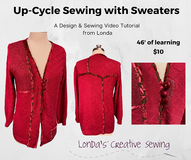 Ruby Red Sweater UP-Cycle Jacket Video Tutorial