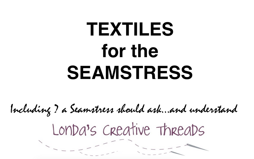 Textiles for the Seamstress PDF