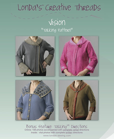 Vision Pattern Booklet for Sweatshirt Make-Overs - Printed