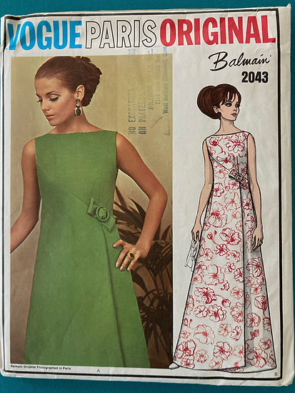 Vogue Paris Original  Pattern 2043 - Balmain - Size 18