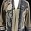 Thumbnail: Taupe Oriental and Silk Cardigan Sweatshirt Jacket-Women's (Medium)