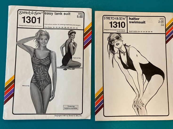 Stretch & Sew Pattern Group 47:  1301, 1310 from 80's & 90's
