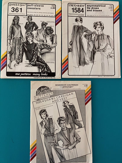 Stretch & Sew Patterns - Group 43:  361, 1584, 5625  from 1980's