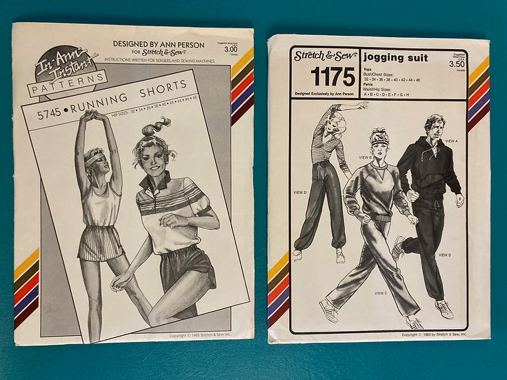Stretch & Sew Patterns - Group 51:  5745, 1175  from 1980's