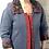 Thumbnail: Textured Collar Denim Sweatshirt Jacket