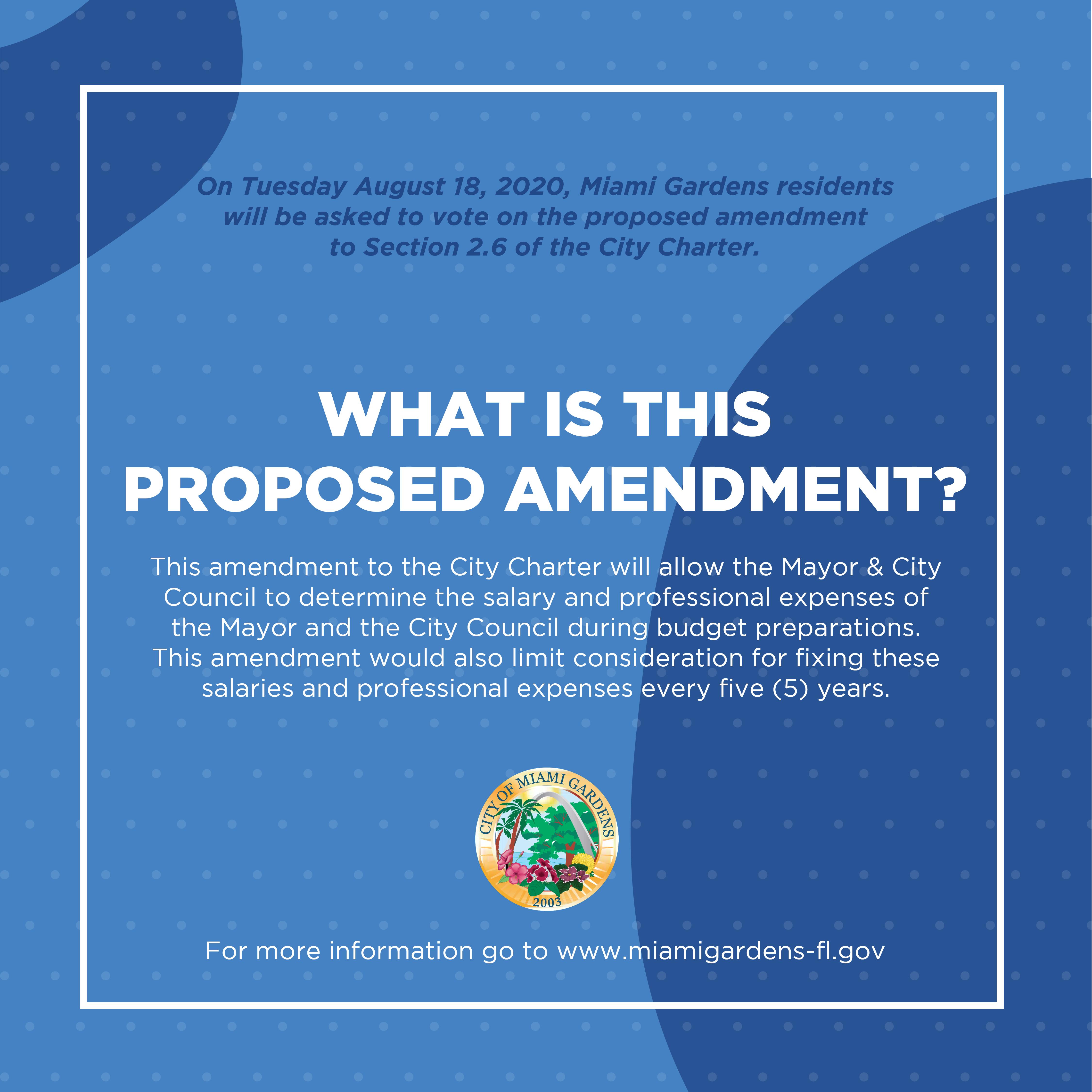 City of Miami Gardens Charter Amendment