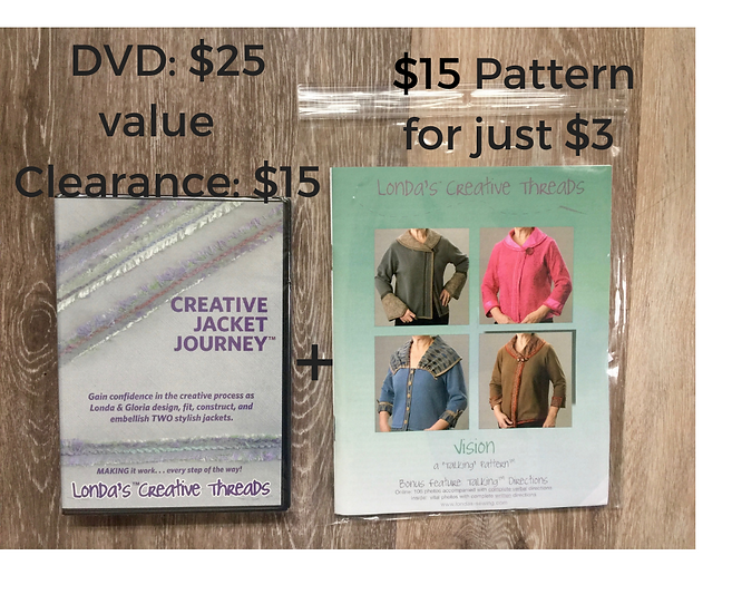 Vision Jacket Pattern with Creative Jacket Journey DVD at Clearance Pricing