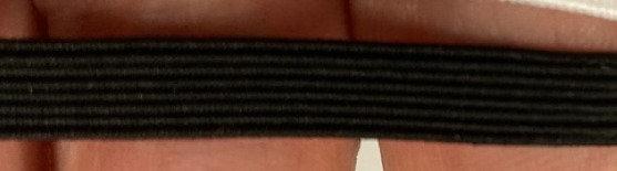"1/4"" Black Braided Elastic"