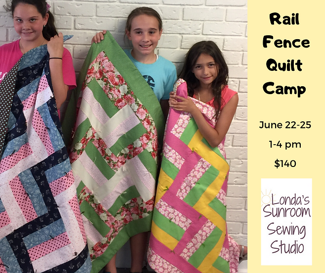 Spring Break Quilt Sewing Camp  March 15, 16, 17, 18