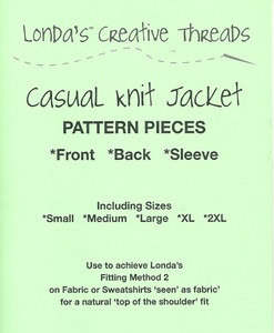 Casual Knit Jacket Pattern - PDF Delivery