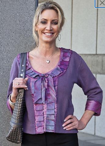 Purple Ribbon-Trimmed Sweatshirt Jacket (12)