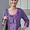 Thumbnail: Purple Ribbon-Trimmed Sweatshirt Jacket (12)