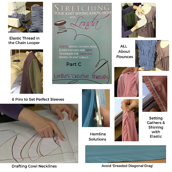 Stretching Your Knit Sewing Know-How Video-Part C