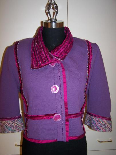 Silk Tweed Chenille Sweatshirt Jacket