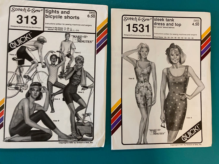 Stretch & Sew Group 54:  313, 1531 from 1990's