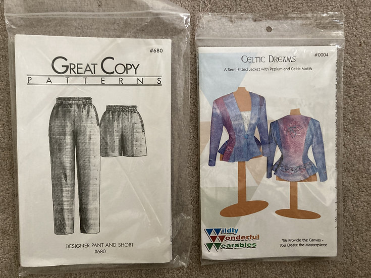 Women Sewing Patterns:  Wildly Wonderful Wearables, Saf-T-Pockets & Great Copy&