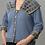 Thumbnail: Wide Collared Vision Sweatshirt Jacket