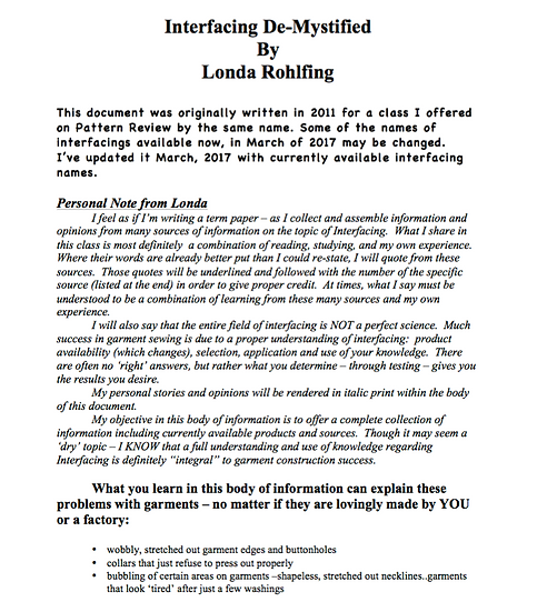 Interfacing De-Mystified PDF Informational from Londa