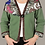 Thumbnail: Draped Silk Scarf Green Sweatshirt Jacket