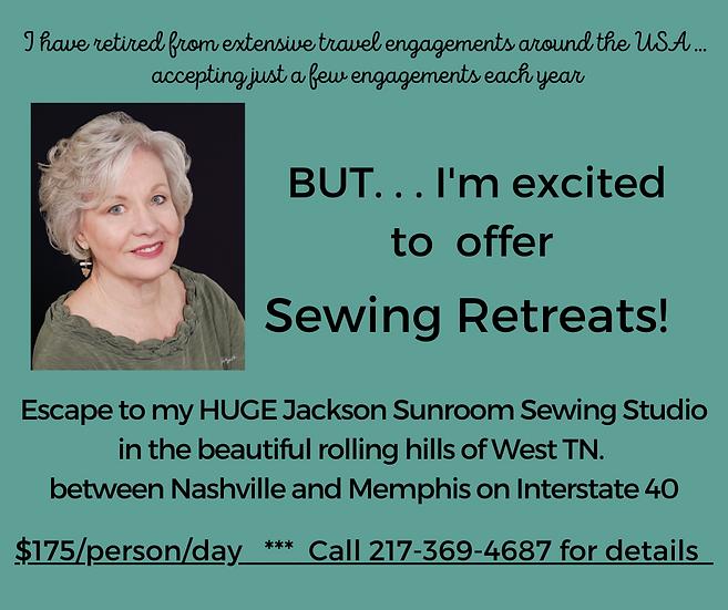 Sewing Escape Retreat at Londa's Sunroom Sewing Studio