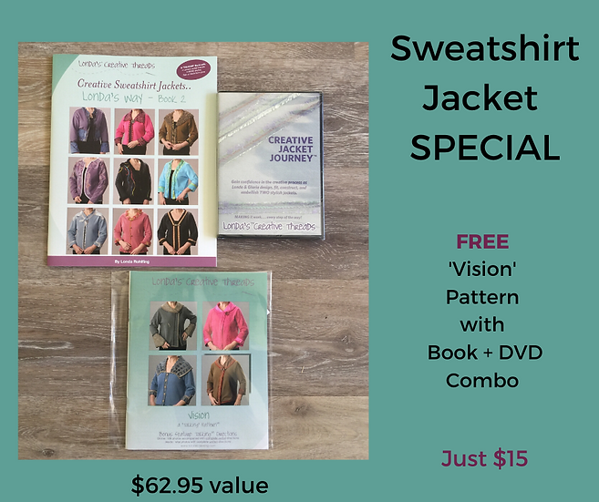 Sweatshirt Jacket DVD + Book 2 + FREE Vision Pattern