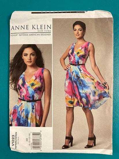 Vogue 1223 Sewing Pattern Anne Klein  Size 8-14 Uncut