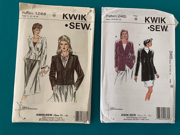 Kwik Sew Patterns:  1268 & 2465