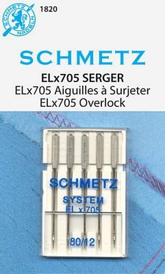 Schmetz Elna ELx705 Serger Needles 5Pk