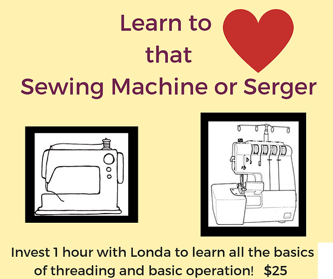 Learn to LOVE Your Sewing Machine/Serger