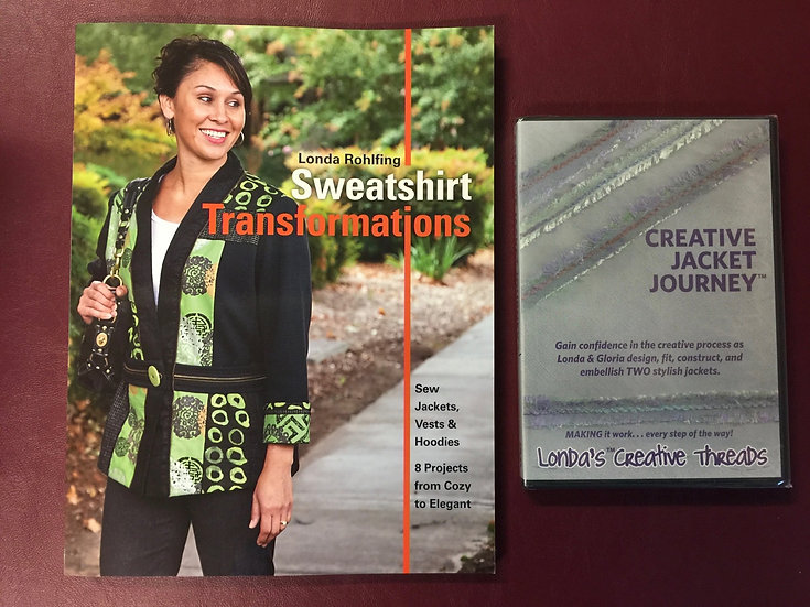 Sweatshirt Transformations Book + Creative Jacket Journey DVD