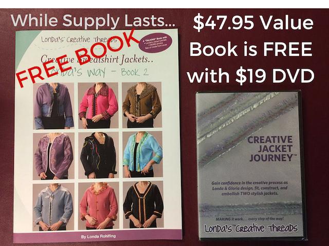 FREE Book Creative Sweatshirt Jackets...Londa's Way w DVD Purchase