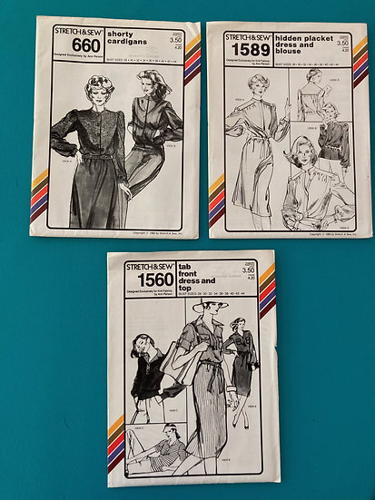 Stretch & Sew Patterns - Group 39:  660, 1589, 1560 from 70's & 80's