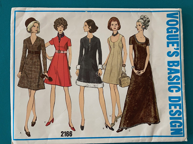 Vogue  Basic Design Pattern 2166 Size 16 - Uncut