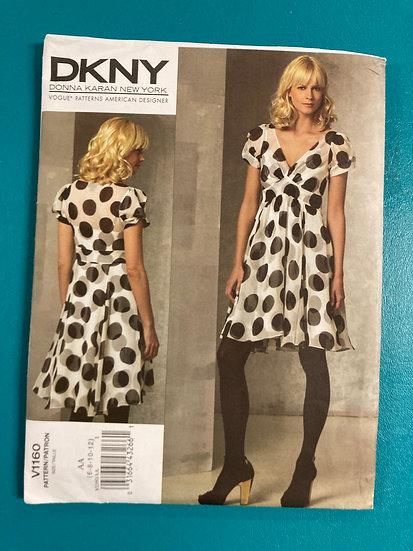 Vogue 1160 Sewing Pattern DKNY Size 6-12 UnCut