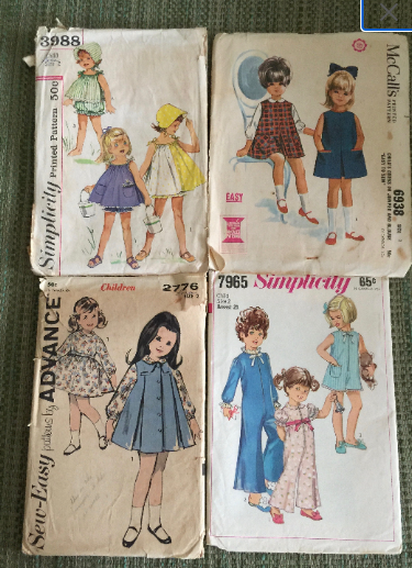 1960's Children's Sewing Patterns Size 2 - 4 Patterns