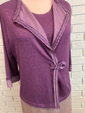 Purple Heather Women's Jacket & Sleeveless Top Twin Set  (14-16)