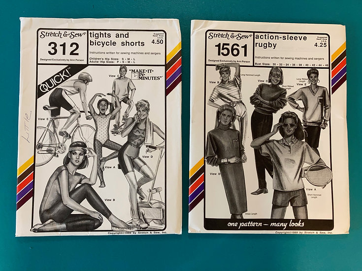 Stretch & Sew Group 55:  312, 1561  from 1980's