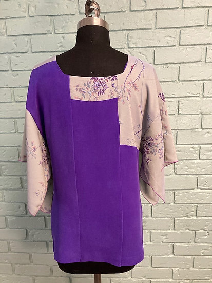 Kayla Silk Kimono Top  (Medium)