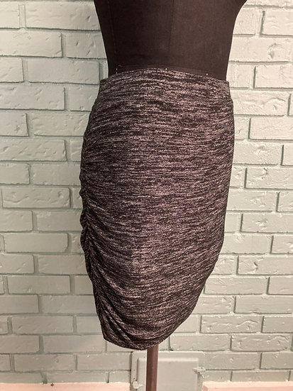 GAP Black/White Sweater Knit Skirt with Side Shirring  (XL)