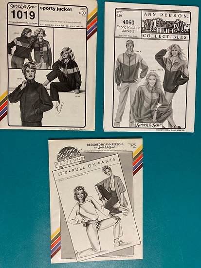 Stretch & Sew Patterns - Group 20:  1019, 4060, 5770 from 80's & 90's