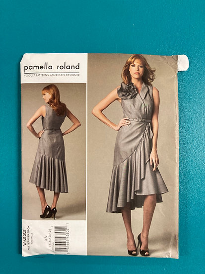 Vogue 1232 Sewing Pattern Pamella Roland  Size 6-12  Uncut