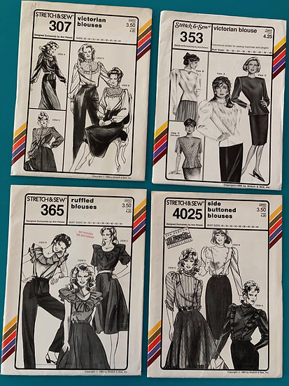 Stretch & Sew Patterns - Group 44:  307, 353, 365, 4025 from 1980's