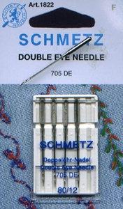 Schmetz Double Eye Needle 5Pk