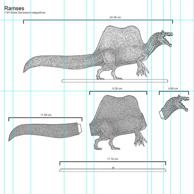 Arte Conceptual de la Figura de Spinosaurus