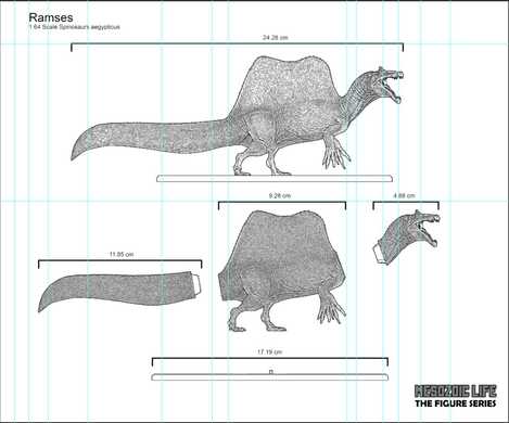 Spinosaurus Figure Concept | 1:64 Scale