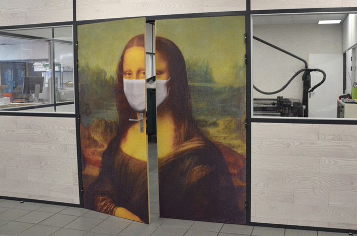 Porte Joconde masque 2